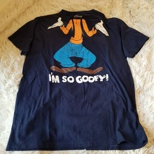 Disney I'm so Goofy navy mens tee large